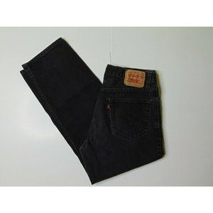 Levi's 550 34 X 30 Black Relaxed Fit Jeans Denim
